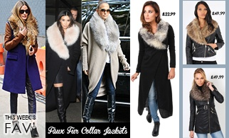 Faux fur collar jackets