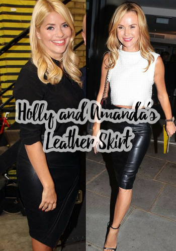 Holly Willoughby & Amanda Holden's Leather Skirt