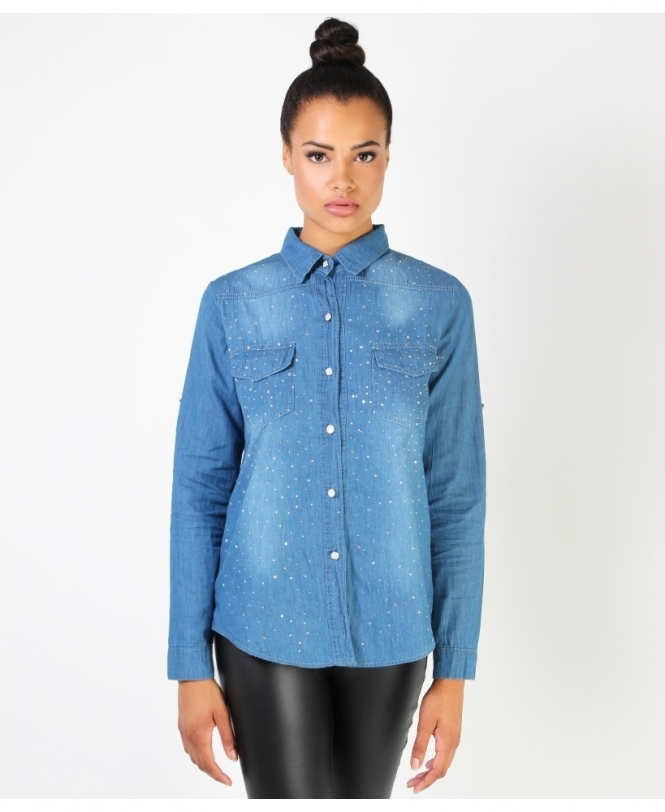Shop For Womens Denim Shirts & Tops | Krisp