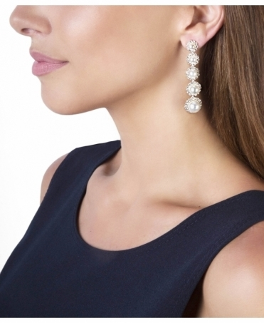 Pearl Dangle Evening Earrings