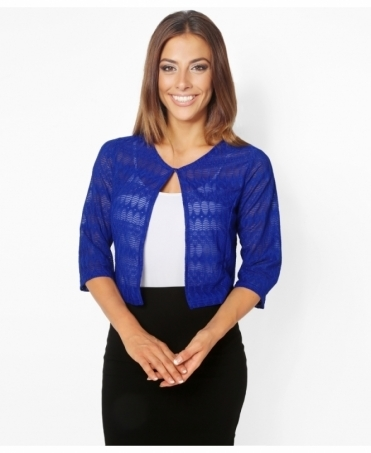 3/4 Sleeve Lace Crop Shrug