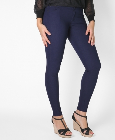 5 Pocket Zip & Button Jeggings