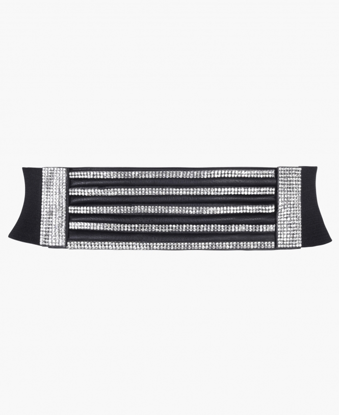 KRISP 5 Row Bling Front Cinch Belt