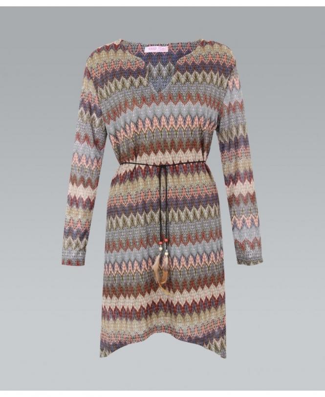 82eba68a0ce KRISP Aztec Print Asymmetric Tunic Dress - Womens from Krisp Clothing UK