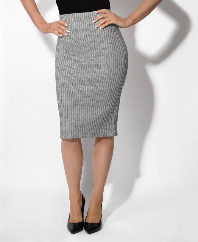 KRISP Back Zip Jersey Pencil Skirt