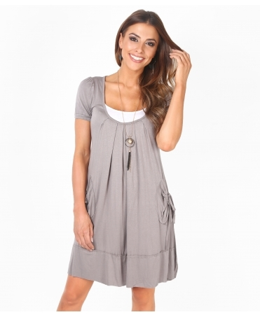 2 in 1 Crinkled Mini Dress