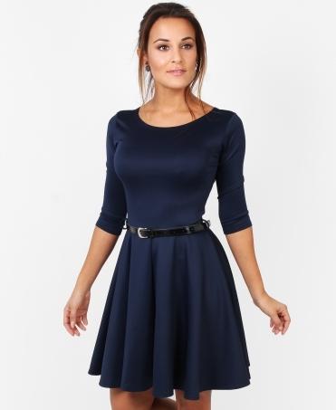 145830d113 3 4 Sleeve Belted Skater Dress SALE. Krisp BASICS ...