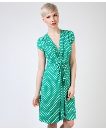 Cap Sleeve Knot Front Dress