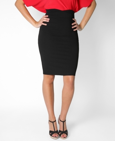 Foldover Waistband Pencil Skirt