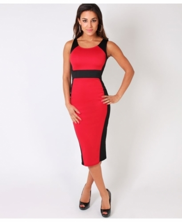 Hourglass Illusion Bodycon Midi Dress