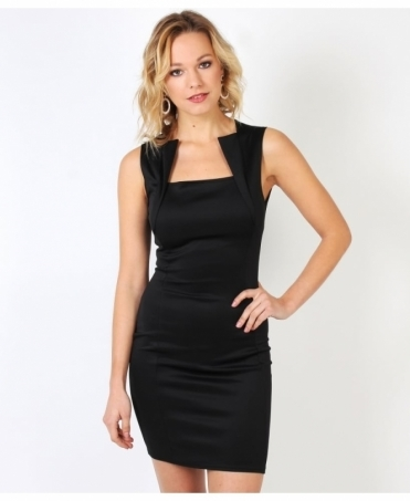 Panel Front Bodycon Dress