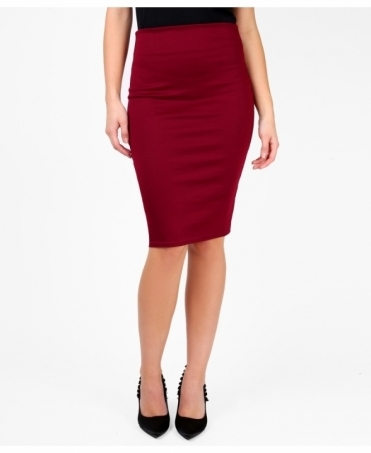 Ponte Knee Length Pencil Skirt
