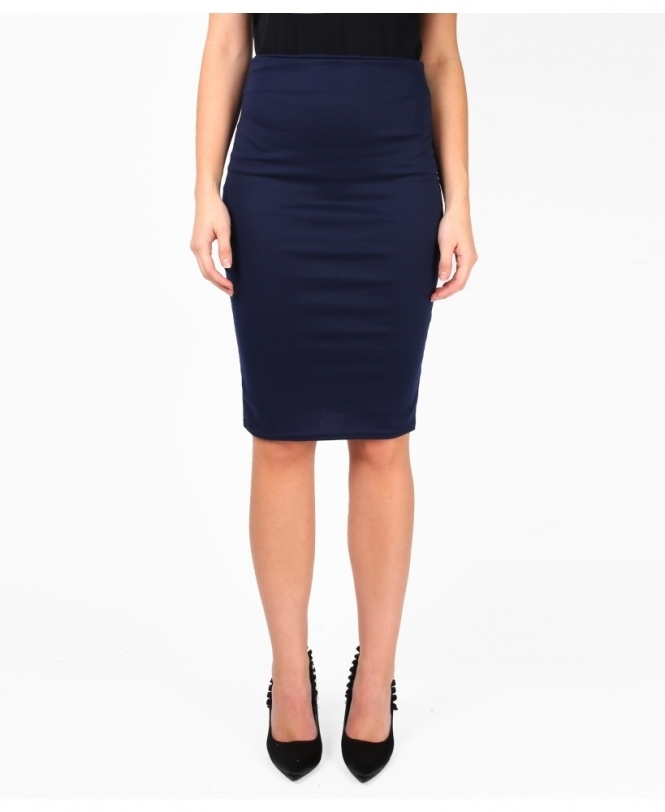 Krisp BASICS Ponte Knee Length Pencil Skirt