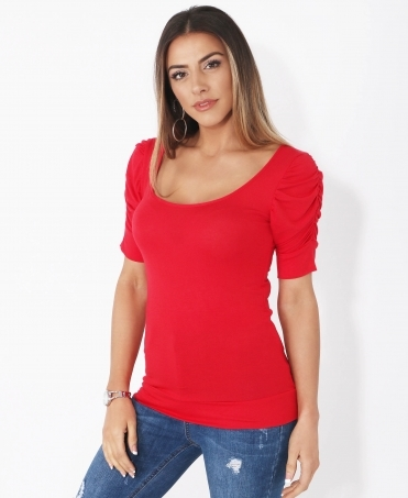 Ruched Short Sleeve Jersey Top 22b3a6b4e
