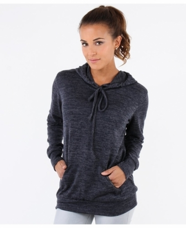 Soft Marl Knit Hooded Jumper