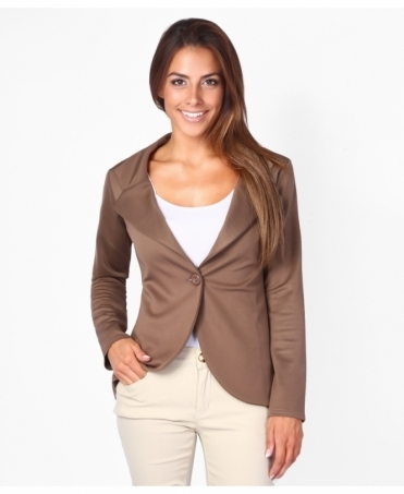 Tailored One Button Work Blazer