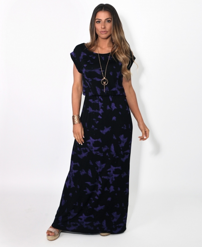 Krisp BASICS Tie Dye Jersey Maxi Dress
