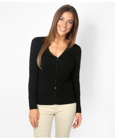 Two Pocket Basic Cardigan