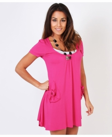 Two Pocket Festival Jersey Tunic Dress