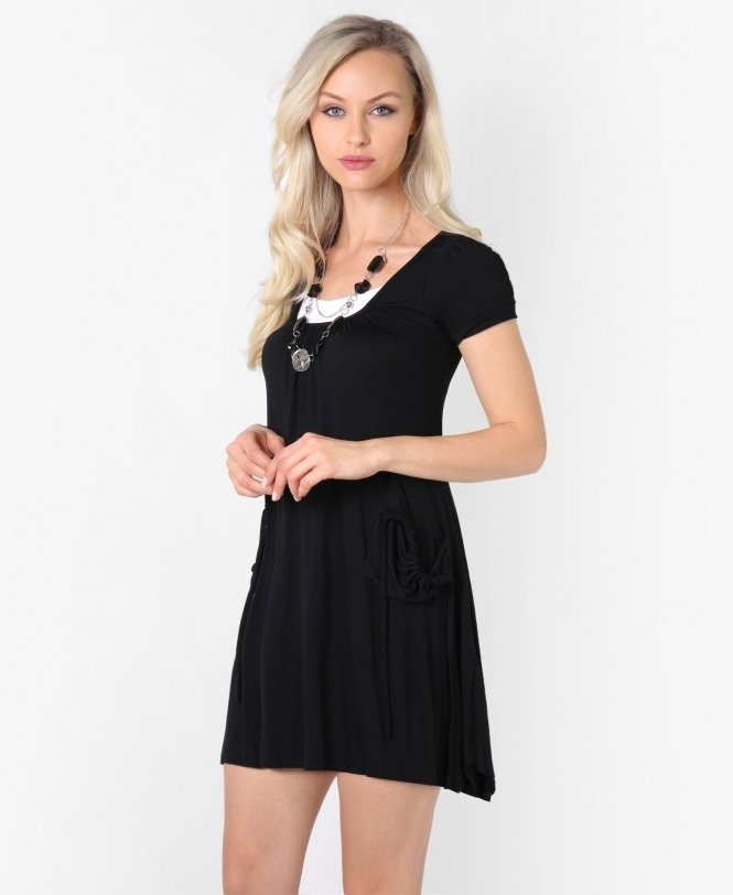Krisp BASICS Two Pocket Festival Jersey Tunic Dress