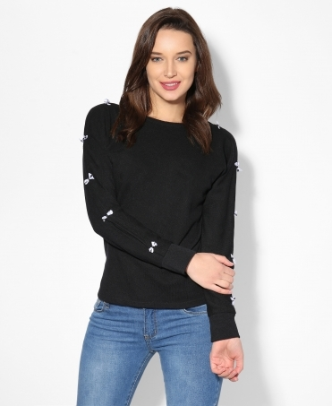 Batwing Bow Sleeve Top