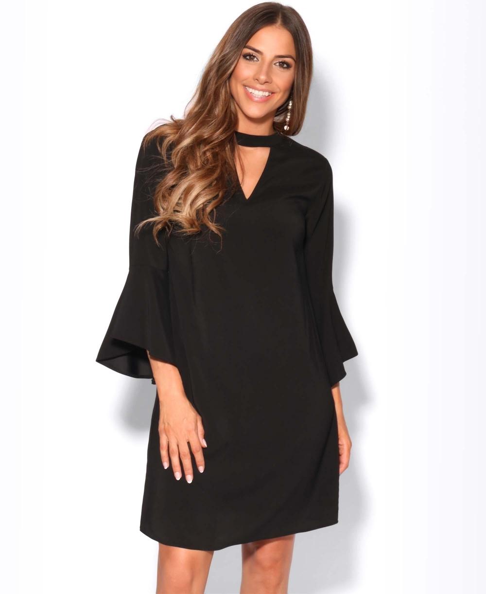 7a4999a997b2e Tunic Dress | Bell Sleeve Choker Tunic Dress | KRISP
