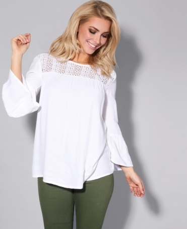 Bell Sleeve Smock Top