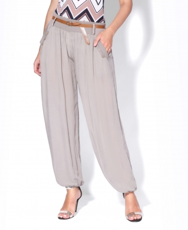 Belted Baggy Harem Trousers