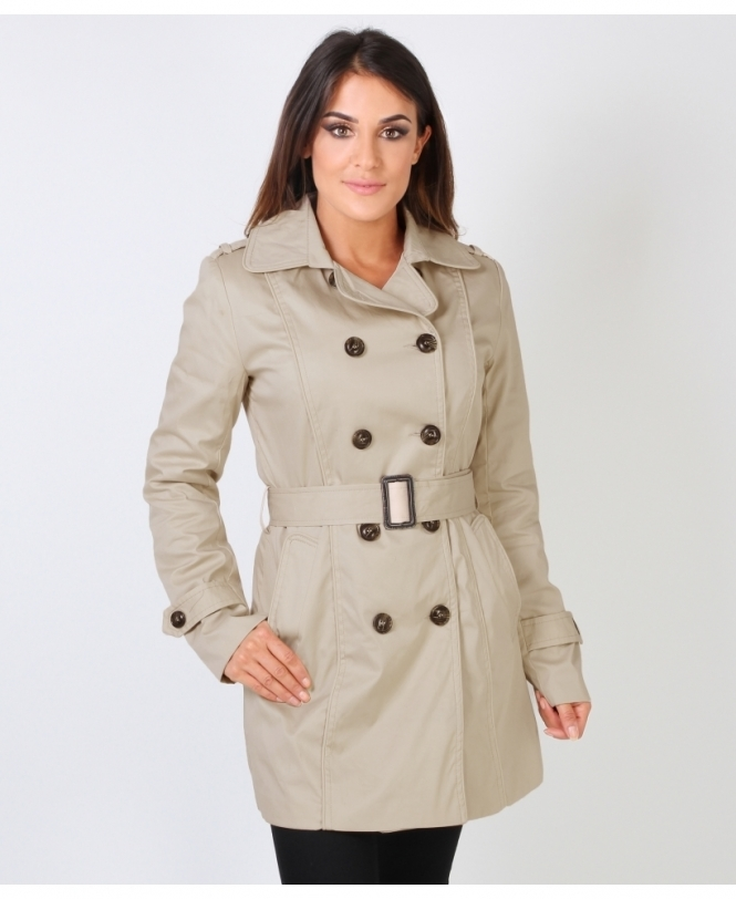 KRISP Belted Double Breasted Mac Coat