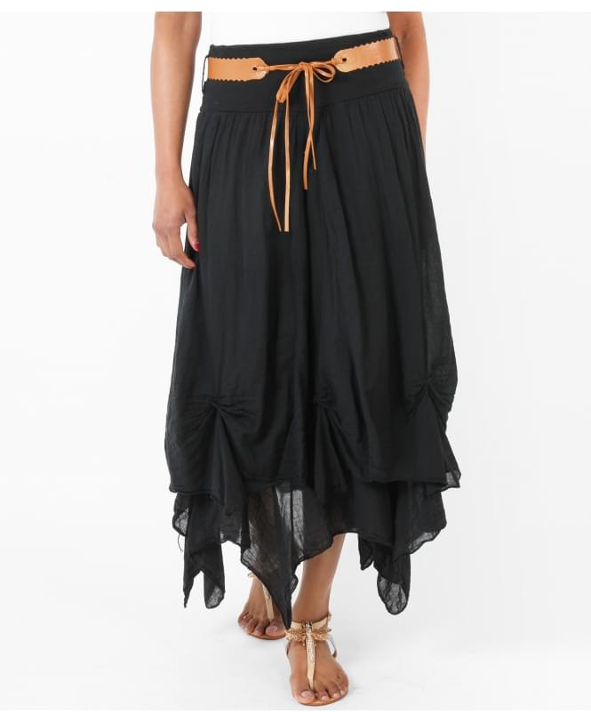 KRISP Belted Hitched Gypsy Maxi Skirt