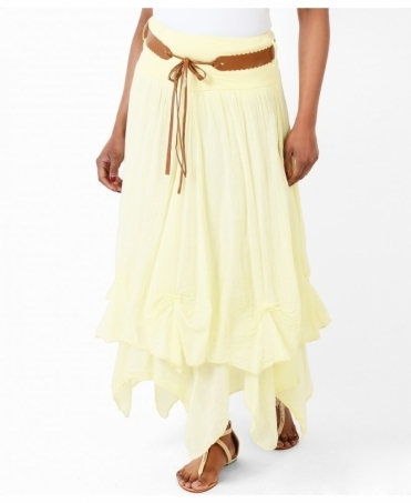 Belted Hitched Gypsy Maxi Skirt