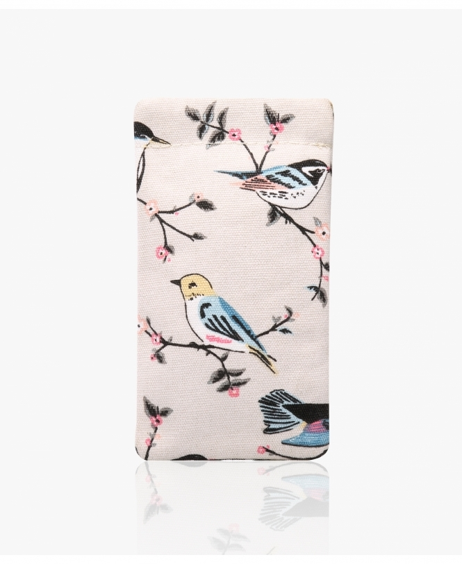 KRISP Bird Print Canvas Glasses Pouch