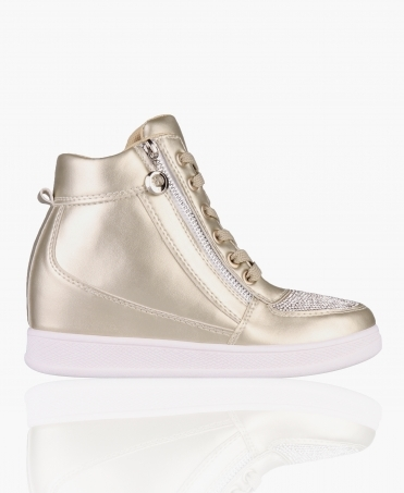 Bling Toe Wedge Trainers