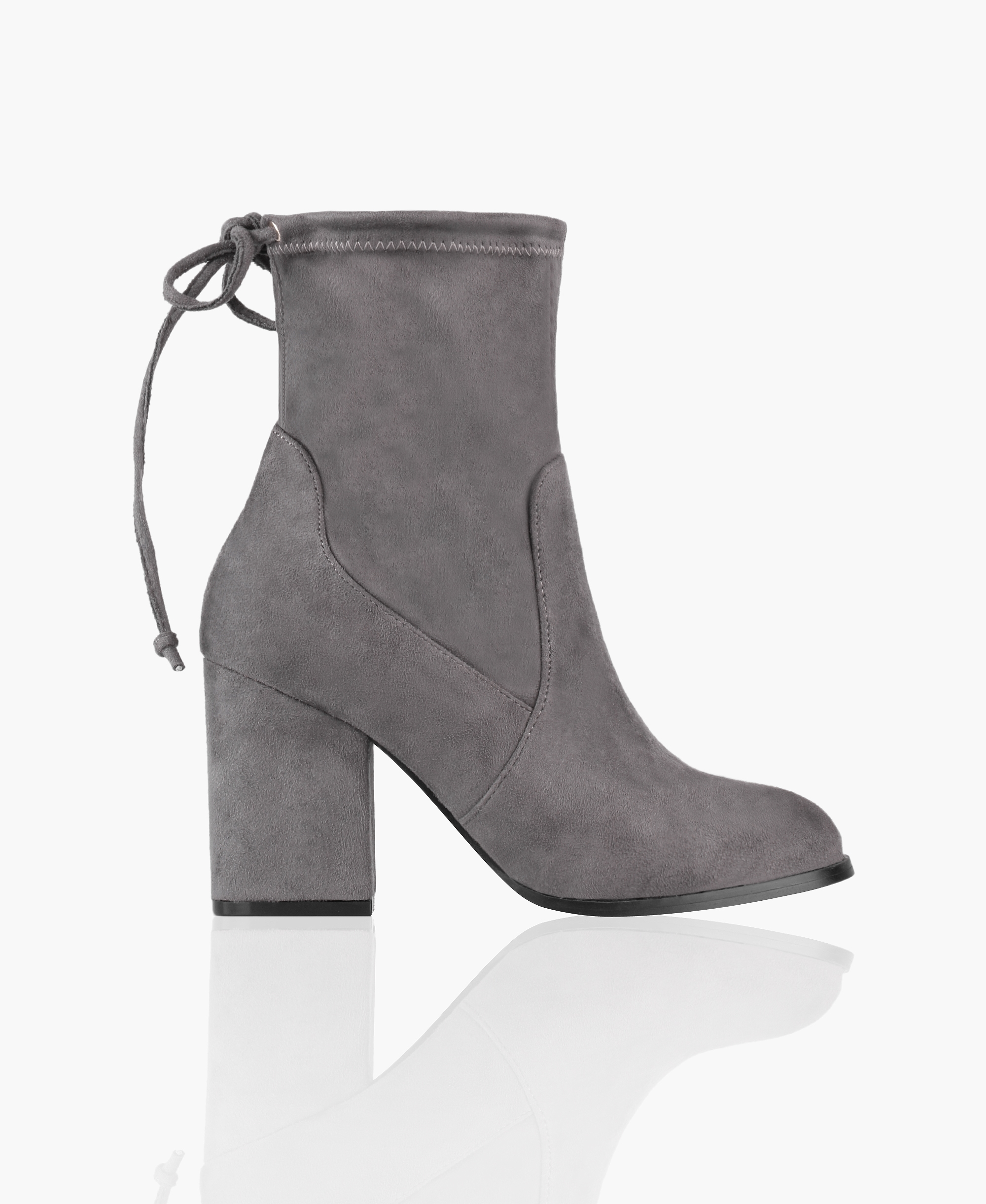 Ankle Boots   Block Heel Sock Ankle