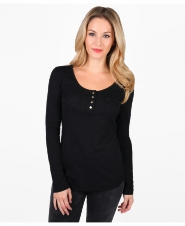Bow Pocket Basic Jersey Top