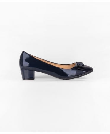 Bow Toe Low Heel Patent Courts