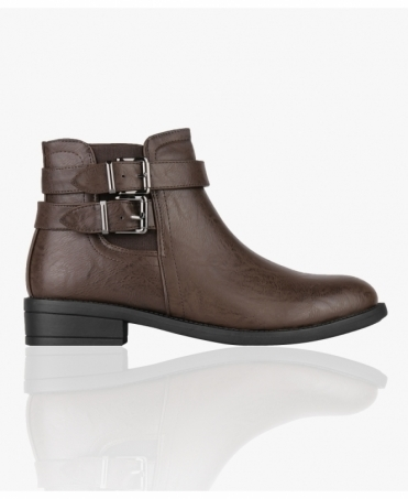 Buckle Strap Chelsea Boots