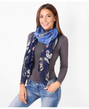 Butterfly Print Autumn Scarf