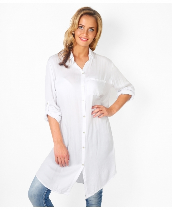 KRISP Button Down Silky Shirt Dress