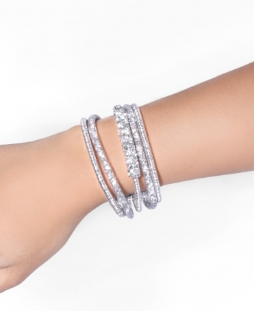 Caged Diamante 5 String Bracelet