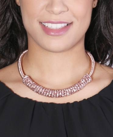 Caged Diamante Collar Necklace
