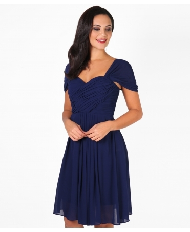 Cap Sleeve Chiffon Midi Dress
