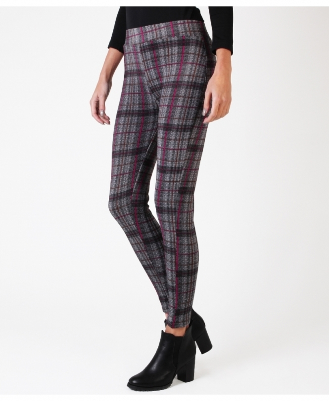 KRISP Check & Marl Print Thermal Leggings
