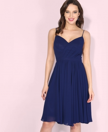 Chiffon Strappy Midi Dress