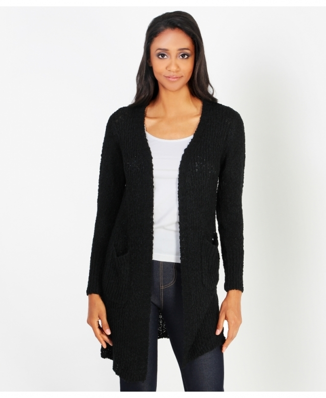 KRISP Chunky Cable Knit Cardigan