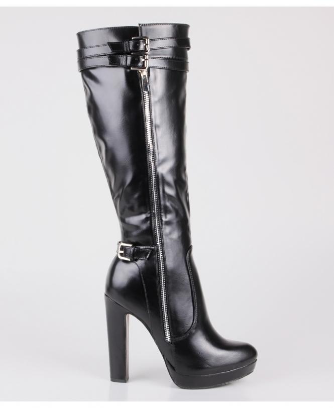 Shop For Black Knee High Boots | Krisp