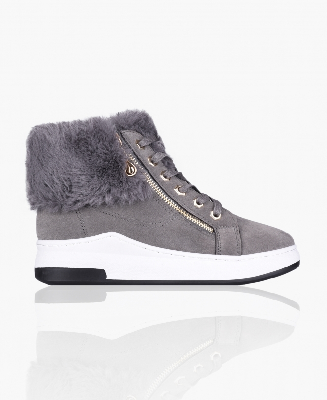 KRISP Chunky Sole Fur Lined Trainers