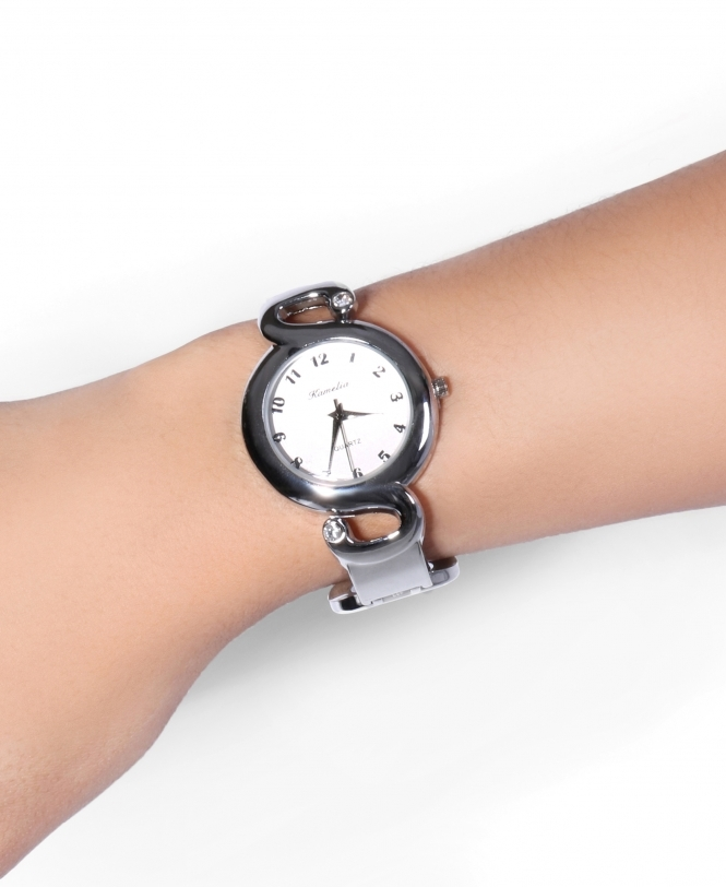 KRISP Clasp Bangle Round Face Watch