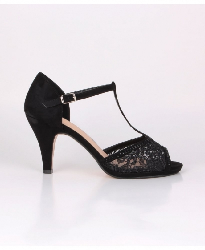 Krisp Low Heel Glitzy Sandals