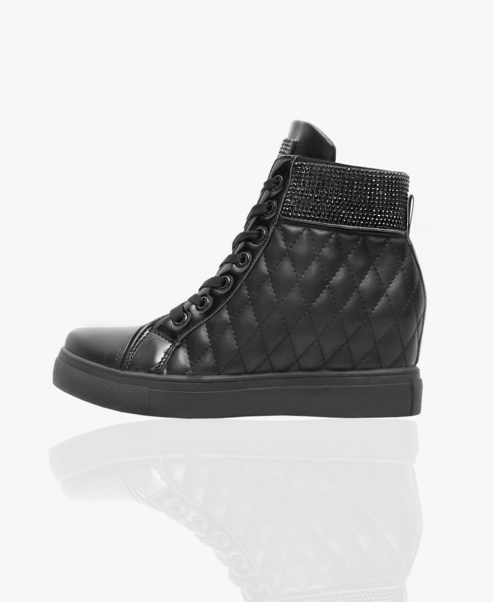 80bdbeab542 Concealed Wedge Quilted Trainers